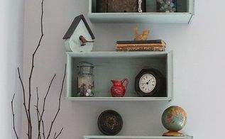 drawers turned shelves, repurposing upcycling, shelving ideas