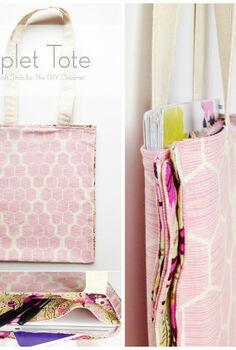 triplet tote tutorial, crafts