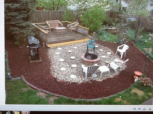 Removed above ground pool and now have big circle of sand for Repurpose inground swimming pool