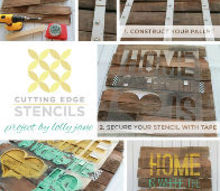 how to create stenciled pallet art, crafts, painting, pallet, repurposing upcycling