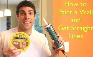 how to paint a wall get perfectly straight lines, paint colors, painting, wall decor, Use Frog Tape with Silicone Caulk for straight paint lines