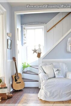 the secret to dealing with quirky room challenges, home decor, The window in the stairwell is not curtained so that ample light will fill the room