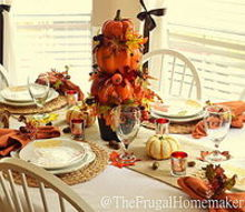 fall table decorated with better homes and gardens seasonal finds, living room ideas, seasonal holiday decor