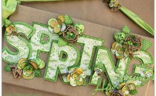 spring has sprung burlap wall decor, crafts