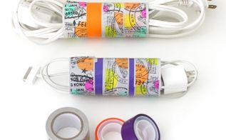 3 diy organizing solutions for your home, organizing, storage ideas, Stop the Cord Chaos For your extension cords collect several toilet paper rolls and decorate them with colorful washi tape Place each extension cord inside a separate roll