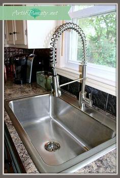 elkay kitchen sink and danze faucet makeover, diy, kitchen design, plumbing