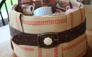 how to make a simple jute webbing basket, crafts, wreaths
