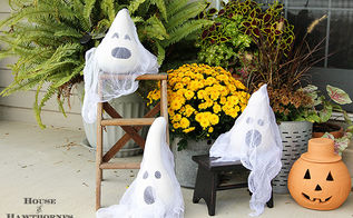 is that a gourd or a ghost, halloween decorations, seasonal holiday d cor, These ghosts are made with the larger sized dried gourds