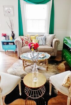 coffee table with a bright new look, painted furniture, A glimpse at the whole room