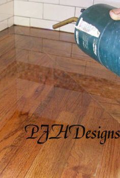 my kitchen remodel diy butcher block countertops, countertops, kitchen design, Apply heat to remove bubbles in poly