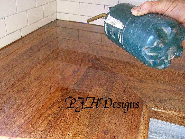 My Kitchen Remodel Diy Butcher Block Countertops Design Apply Heat To