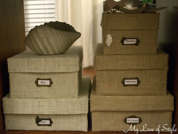 Diy Custom Burlap Storage Box Crafts Home Decor Diy Home Office Storage Boxes