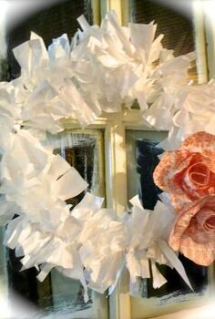 wreaths from trash bags and hangers, seasonal holiday d cor, wreaths