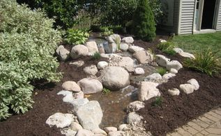 backyard pondless waterfall, landscape, outdoor living, patio, ponds water features, After the homeowners now have a beautiful waterfall next to their patio