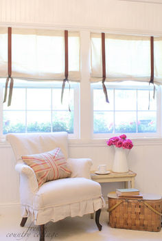 drop cloth window shades, reupholster, window treatments, windows