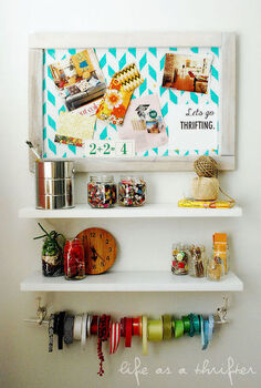 simple craft room storage center, cleaning tips, craft rooms, organizing