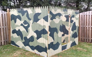 building an outdoor kids fort inspired by this old house, outdoor living, With some modifications like larger stockade fencing and paint you can alter the plan to match your kids imaginations