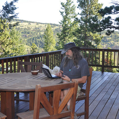hard at work on my deck