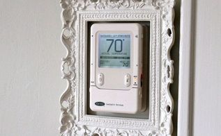 dress up your ugly thermostat, home decor, hvac, Here s an easy way to make the ugly go away
