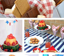 summer table, seasonal holiday decor, Fun summer table with mini hamburger cookies a fun way to serve s mores and a spin on serving up fruit