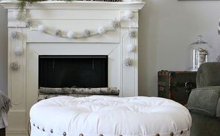 diy oval button tufted ottoman, diy, home decor, how to, living room ideas, painted furniture, reupholster