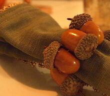 acorn napkin ring, crafts