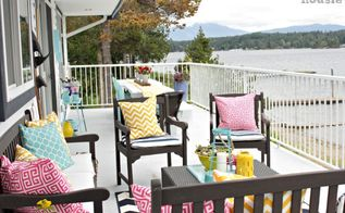all decked out for summer thrifty ways we decked out our deck, decks, home decor, outdoor furniture, outdoor living