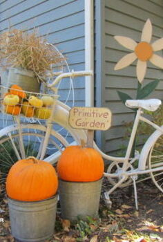 primping my bike for fall, gardening, seasonal holiday d cor
