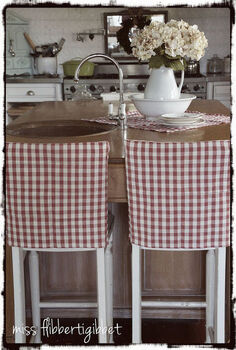 ten minute slipcover, crafts, reupholster, Quick slipcovers from thrift store napkins