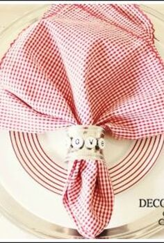 valentine table decorations, crafts, seasonal holiday decor, valentines day ideas, A little bit of red makes this table setting ready for Valentine s Day