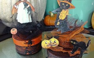 vintage style halloween boxes tutorial, crafts, halloween decorations, seasonal holiday decor, Vintage style Halloween Boxes tutorial by Laura at Pet Scribbles