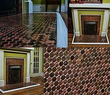 a penny for your thoughts, diy, fireplaces mantels, how to, wall decor, final product