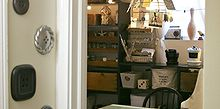 vintage inspired craft room home office, craft rooms, home decor, home office, craft room work space