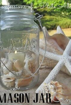 fun and easy summer mason jar candles, crafts, mason jars, outdoor living, Super easy and fun summer Mason jar candles