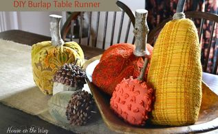 how to make a diy burlap table runner the easy way, crafts, seasonal holiday decor, A burlap table runner is one of the best accents for your Fall tablescape
