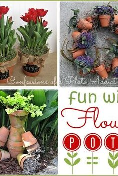 fun and easy ways to use flower pots, crafts, flowers, gardening, wreaths