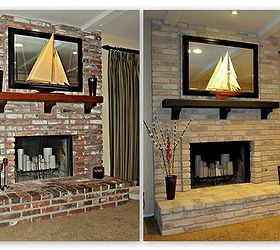 Painting A Brick Fireplace | Hometalk