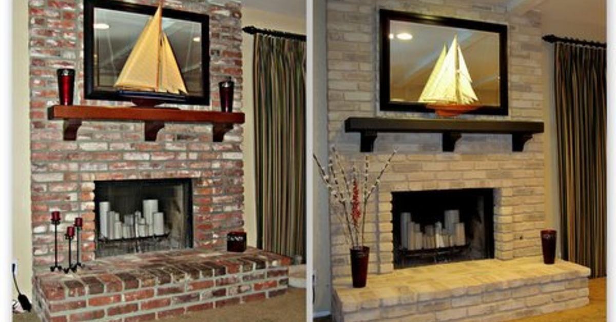 Painting A Brick Fireplace Hometalk