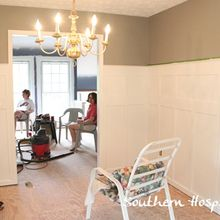 diy tutorial for board amp batten, dining room ideas, home decor, Finished board and batten