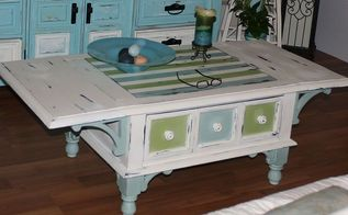 before and after coffee table, painted furniture