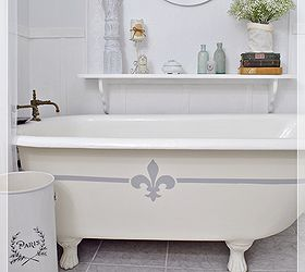 painting the claw foot tub bathroom ideas chalk paint home decor painting - Claw Tub