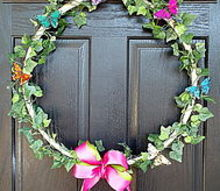 easy spring wreath, crafts, seasonal holiday decor, wreaths, Hello Spring