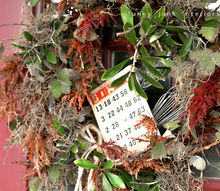 a natural leaf fall wreath straight off the tree, crafts, seasonal holiday decor, wreaths, Every project goes better with a little junk doncha think