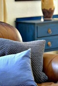 legacy blue painted furniture makeover, painted furniture