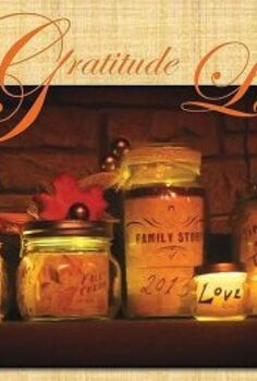 thanksgiving gratitude lanterns, seasonal holiday d cor, thanksgiving decorations, personalized messages get a glow from flameless votives