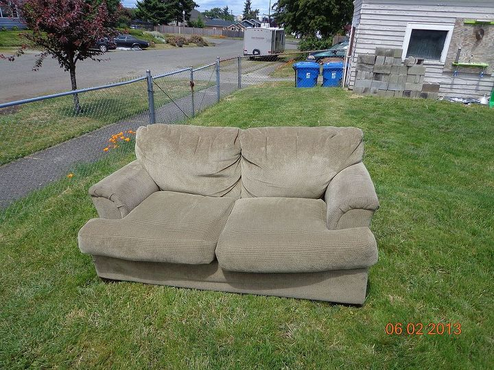 Upcycle Indoor Love Seat to Outdoor Couch | Hometalk