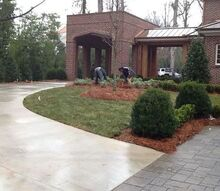 atlanta home after, concrete masonry, curb appeal, home decor, landscape, lawn care, patio