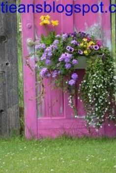updated photo on reusing old doors, gardening, repurposing upcycling