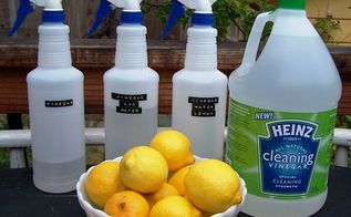 cleaning with vinegar, cleaning tips, go green, Cleaning up with Heinz Cleaning Vinegar A few simple ingredients are all you need Cleaning Vinegar or white vinegar water and for a special scent some essential oils