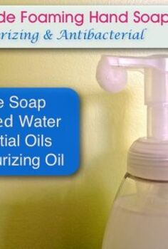 homemade foaming hand soap moisturizing anti bacterial, cleaning tips, go green